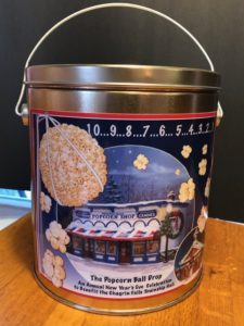 new Popcorn Ball Drop Tin